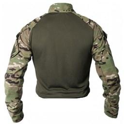 Camiseta Masculina Bélica Combat Shirt Steel Multicam Camuflada