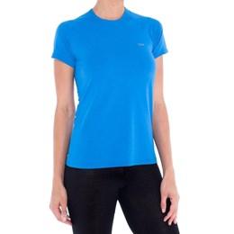 Camiseta SOLO Feminina com Proteção UPF 25+ Run Lite 25+ Lady Azul Petróleo