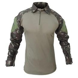 Camiseta Tática Fox Boy Combat Shirt Raglan Exército com Proteção UFP 50+ Tamanho