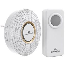Campainha Sem Fio Wireless Bivolt Branca + Trava Porta + Veda Porta