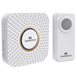 Campainha Sem Fio Wireless Branca + Trava Porta + Veda Porta