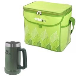 Caneca Térmica Stanley 709ml Hammertone Green + Bolsa Térmica Green 5L EchoLife