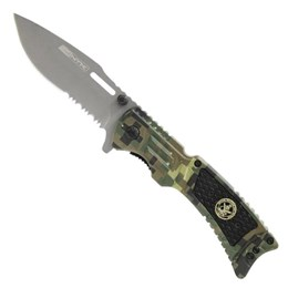 Canivete Tático Nautika Uzzit Semi-Automático com Estojo