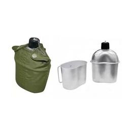 Cantil de Alumínio com Capa e Copo Verde Oliva - EchoLife