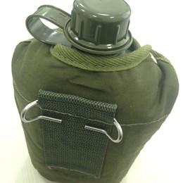 Cantil de Plástico 0,9 Litros com Capa Isolante de Algodão Verde - Nautika