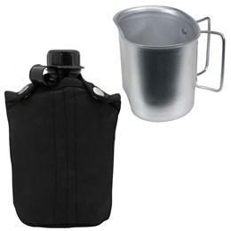 Cantil de Plástico 0,9L com Capa Isolante Nautika + Caneca Cantil Guepardo