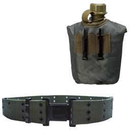 Cantil Tático 950 ML Guepardo + Cinto Militar Tático N.A. Army Guepardo