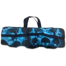 Capa Case para Rifle Airsoft com 3 Bolsos ALK Estampa Caveiras Azul