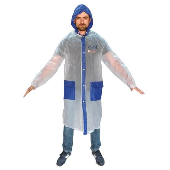 Capa de Chuva Classe Tamanho Adulto 1,80 Azul em PVC - P16AZ
