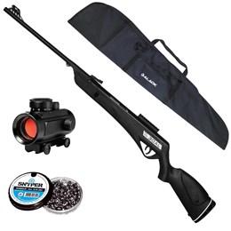 Carabina de Pressão CBC Jade PRO + Red Dot 11mm CBC 1 x 30 + Capa + 250 Chumbinhos 5.5mm Snyper