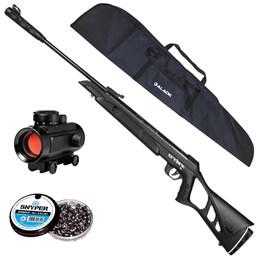 Carabina de Pressão CBC NITRO-X + Red Dot 11mm CBC 1 x 30 + Capa de Carabina + 250 Chumbinhos 5.5mm