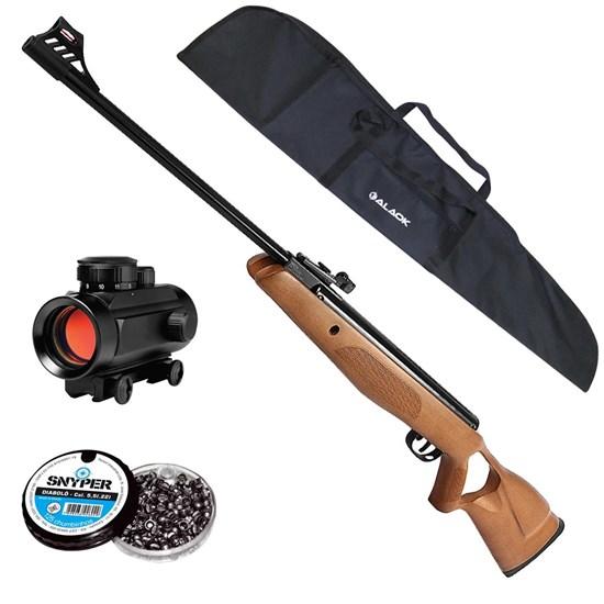 Carabina de Pressão GR CBC B19-Z Nitro + Red Dot 11mm CBC 1 x 30 + Capa + 250 Un Chumbinhos 5.5mm