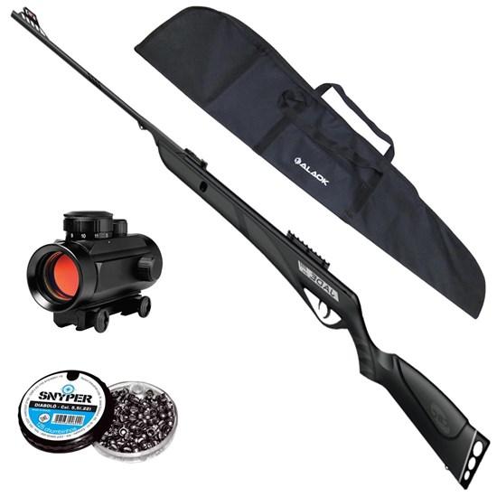 Carabina de Pressão JADE PRO Calibre CBC + Red Dot 11mm CBC 1 x 30 + Capa + 250 Chumbinhos 5.5mm