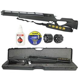 Carabina de Pressão PCP R8 Black 5,5mm Rossi 1100 FPS