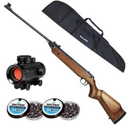 Carabina de Pressão Rossi Nova Dione 3ª Geração + Red Dot 11mm CBC 1 x 30 + 250 Chumbinhos 5.5mm