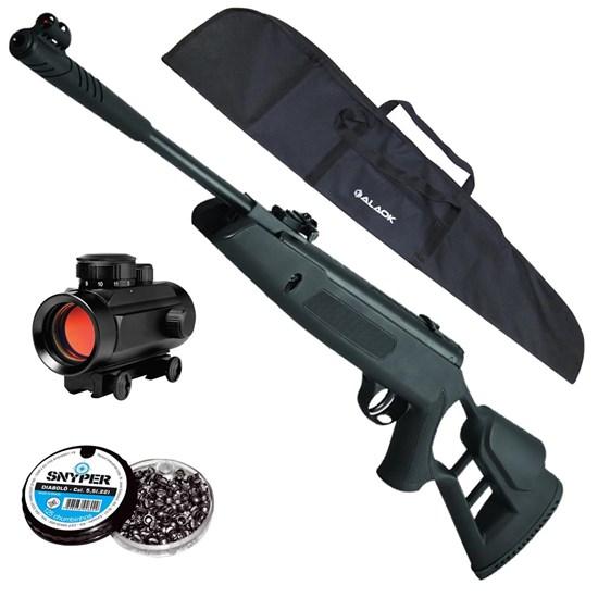 Carabina de Pressão Striker Edge Hatsan + Red Dot 11mm CBC 1 x 30 + Capa + 250 Chumbinhos 5.5mm