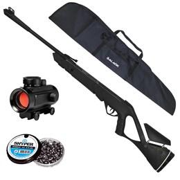 Carabina Pressão NITRO 5,5 ADVANCED CBC + Red Dot 11mm CBC 1 x 30 + Capa + 250 Chumbinhos 5.5mm