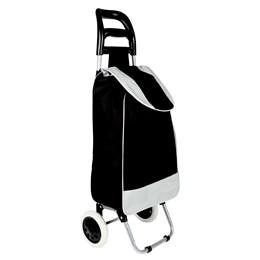 Carrinho de Compras em Aço com Bolsa em Poliéster Leva Tudo Bag to Go - MOR 002497 PRETO