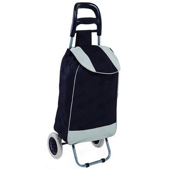 Carrinho de Compras em Aço com Bolsa em Poliéster Leva Tudo Bag to Go - MOR 002497 VERDE