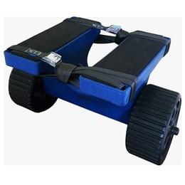 Carrinho para Caiaque Caiaker Big Foot Azul Suporta até 400 Kgf
