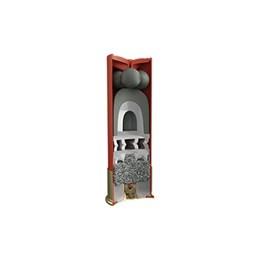 Cartucho CBC Calibre 12/70 Knock Plus Balote SG1 + Chumbo SG Caixa com 25 Unidades