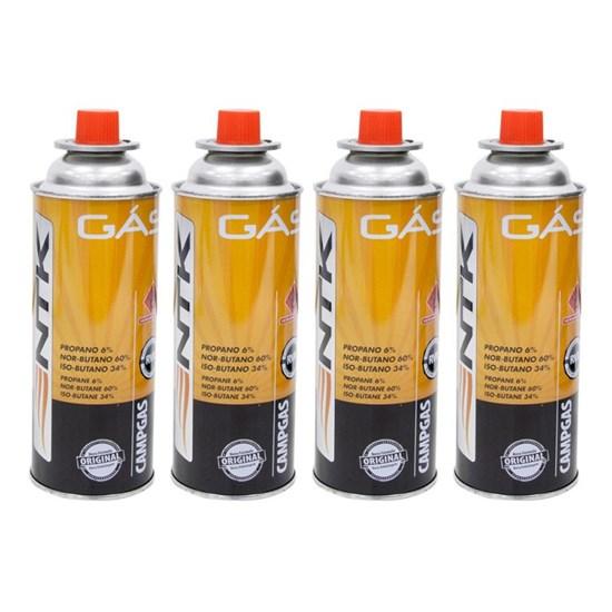 Cartucho de Gás CAMPGÁS com Válvula de Segurança e 4 unidades - Nautika 280550