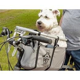 Cesta Cadeirinha para Cachorro Bike Pet Basket Ajustável Desmontável Cinza
