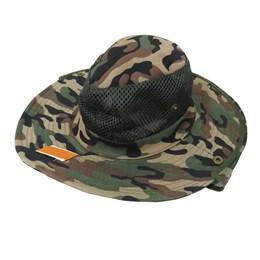 Chapéu Camuflado da Rotony em Poliéster com Tela de proteção e Alça para Fixação