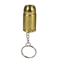 Chaveiro Lanterna Nautika Bullet Formato de Munição Dourado