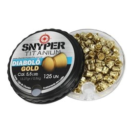 Chumbinho Snyper Titanium Diabolô Gold 5.5mm 125 Unidades para Armas de Pressão