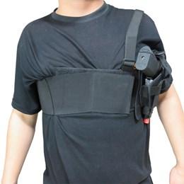 Coldre Axilar para Pistola Cia Militar Rip Stop Preto com Regulagem