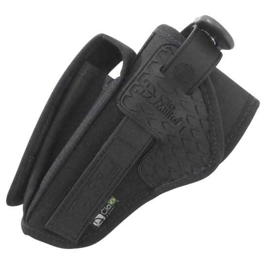 Coldre de Cintura Canhoto Cia Militar PM Longo com Porta Carregador CM0012