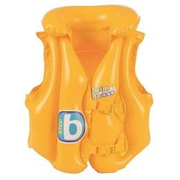 Colete Inflável Infantil Bestway Swim Safe ABC com Encosto