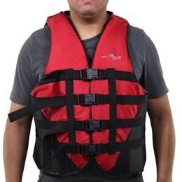 Colete Náutico para Esportes Aquáticos Coast até 130Kg Vermelho - Nautika