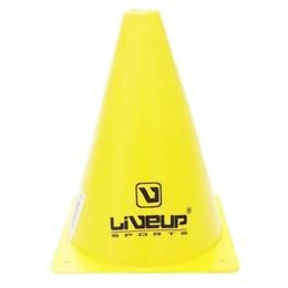 Cone para Treinamento de Agilidade 18cm Amarelo - LIVEUP LS3876/18