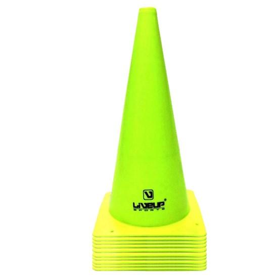 Cones de Agilidade 38cm Verde 10 Unidades - LIVEUP LS3876/38