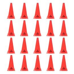 Cones para Treinamento de Agilidade 28cm Vermelho 20 Unidades - LIVEUP LS3876/28