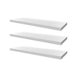 Conjunto 03 Prateleiras Decorativas de 60cm em MDF Branco para Decoração e Utilidades