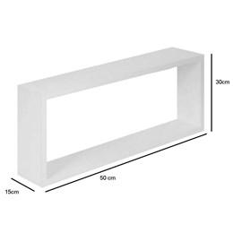 Conjunto 2 Nichos para Banheiro Decoração em MDF Branco 50x30x15cm