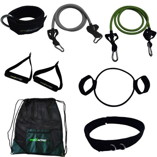 Conjunto Treinamento Funcional Elásticos e Extensores + Bolsa Gym Proaction
