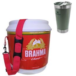 Cooler Térmico Brahma 20L 12 Latas + Copo Térmico 473 ml STANLEY Classic Verde