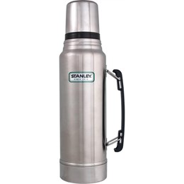 Cooler Térmico Brahma 20L 12 Latas + Garrafa Térmica Stanley Classic 1L Aço Inox