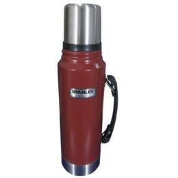 Cooler Térmico Brahma 20L 12 Latas + Garrafa Térmica Stanley Classic 1L Vermelha