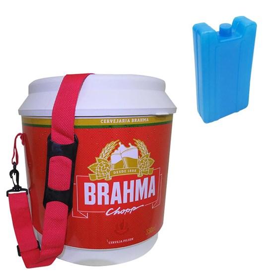 Cooler Térmico Brahma 20L com Alça + Gelo Artificial Reutilizável Kool Nautika