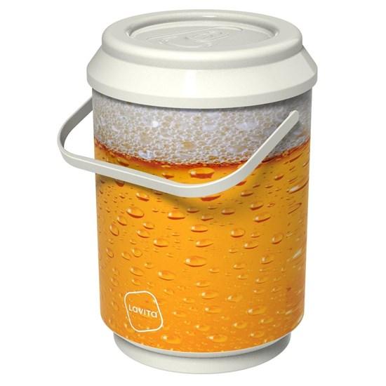 Cooler Térmico Lavita Beer 2,1 Litros 6 Latas com Alça de Transporte Branco