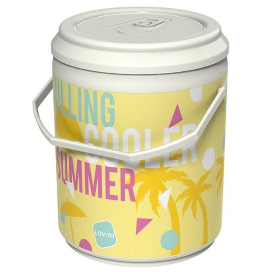 Cooler Térmico Lavita Summer 4 Litros 12 Latas com Alça de Transporte Branco