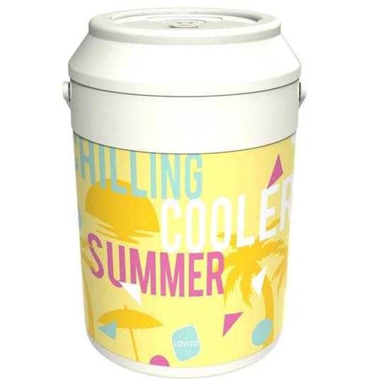 Cooler Térmico Lavita Summer 5,6 Litros 16 Latas com Alça de Transporte Branco