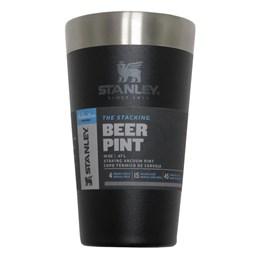 Copo Térmico 473 ml Preto + Copo Térmico de Cerveja 473 ml com Tampa STANLEY