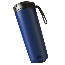 Copo Térmico Antiqueda em Aço Inox Azul 450 Ml Coffee to Go MOR