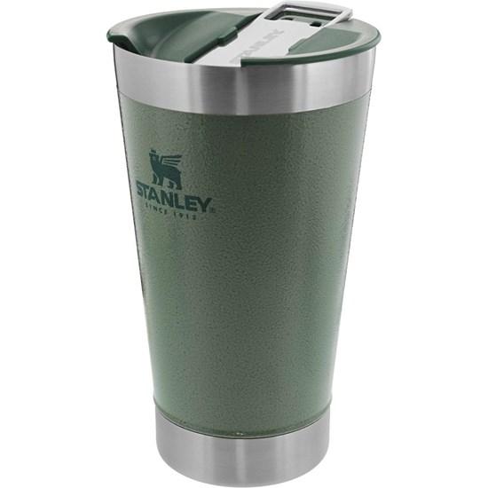Copo Térmico de Cerveja 473 ml com Tampa STANLEY Classic Hammertone Verde